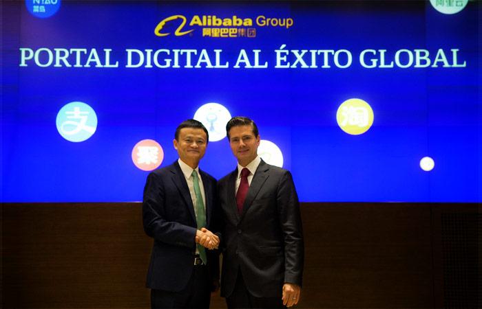 Jack Ma y Peña Nieto