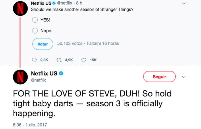 Netflix anuncia por Twitter Stranger Things 3
