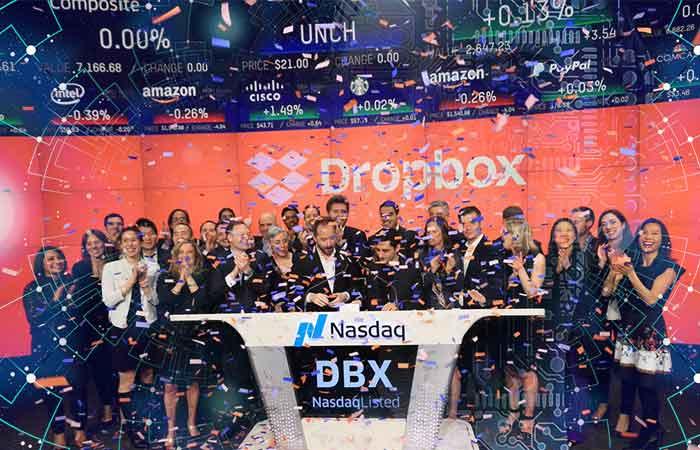 Dropbox debuta en la bolsa con alza de 38% en sus acciones