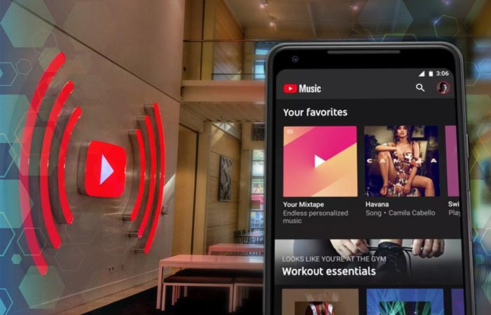 Servicio streaming de YouTube Music
