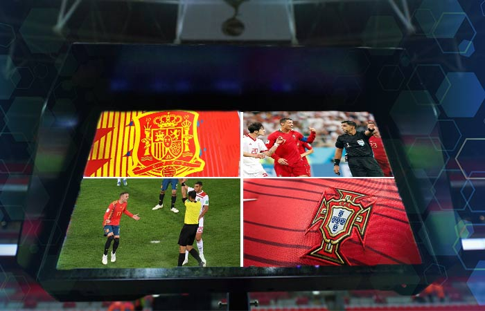 VAR beneficia a España y Portugal