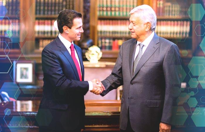 EPN y AMLO en Palacio Nacional