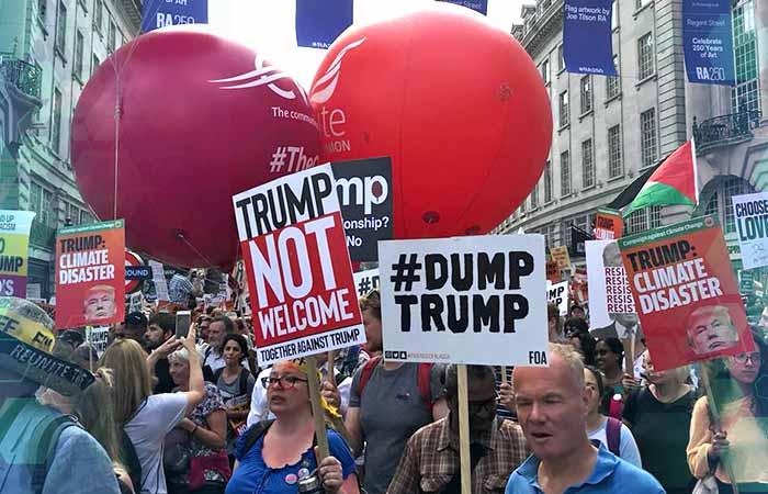 Repudio a Trump en Londres (Foto: Luis Garcia)