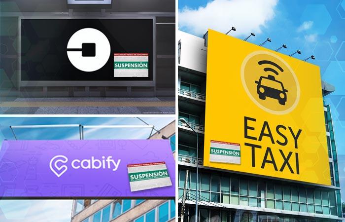 Uber, Easy Taxi y Cabify