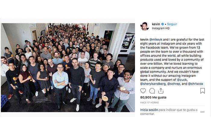 Los fundadores de Instagram dejan la compañía, abriendo las puertas a un mayor control por Facebook