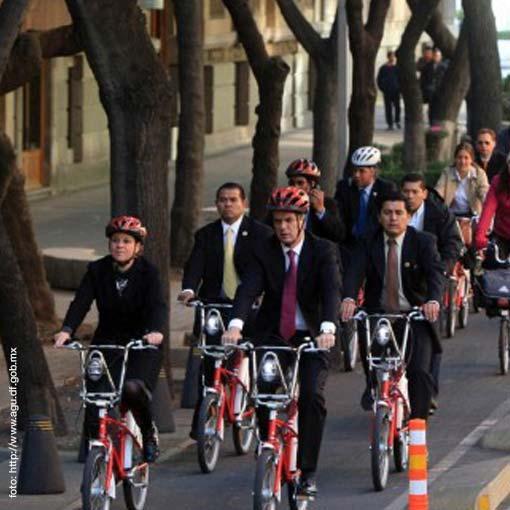 Ciudad de México anda en bicicleta