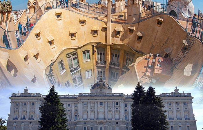 Madrid y Barcelona en España