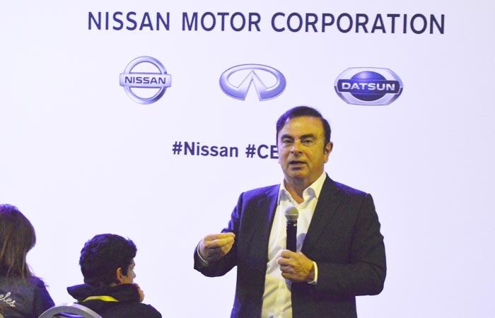 Carlos Ghosn, presidente de Nissan en la CES 2017